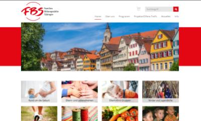 Der neue Internetauftritt der FBS Tübingen