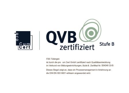 Qualitätsmanagement QVB zertifiziert